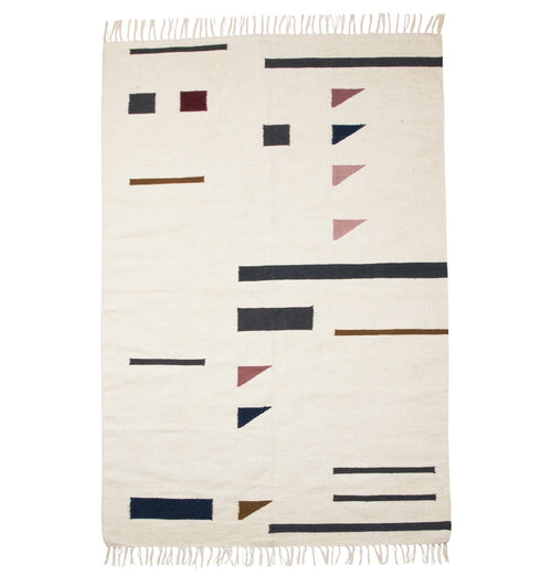 Ferm Living Kelim Rug - Colour Triangles - Large