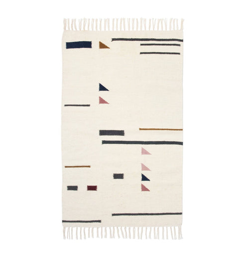Ferm Living Kelim Rug - Colour Triangles - Small - HUH. Store