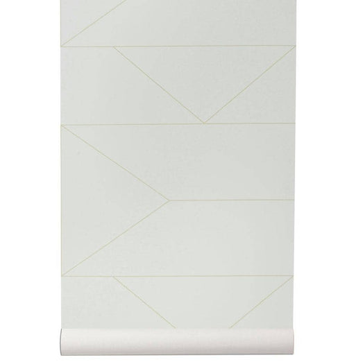Ferm Living Lines Wallpaper - Off White - HUH. Store
