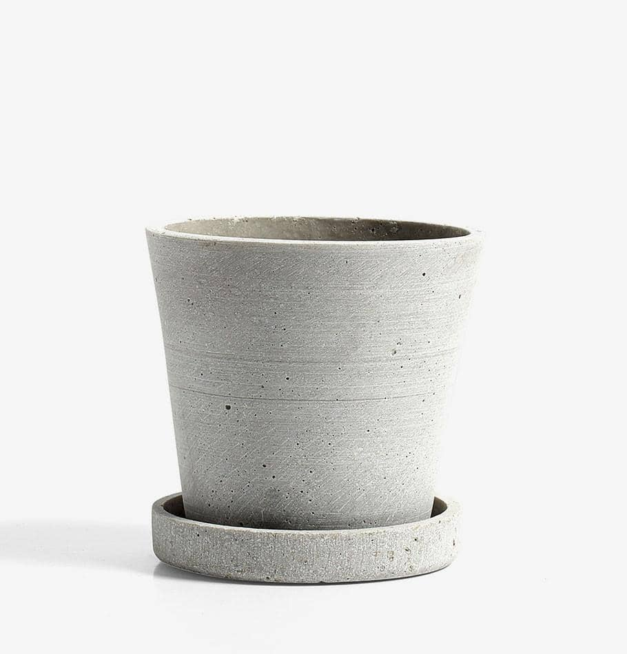 HAY Small Flowerpot with Saucer - Grey