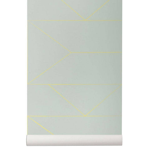 Ferm Living Lines Wallpaper - Mint