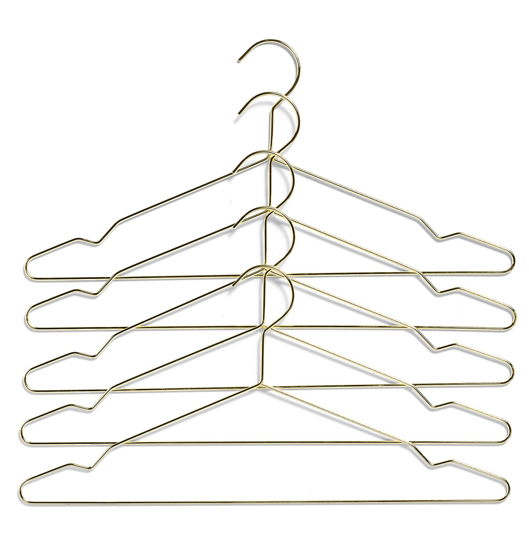 HAY Hang Clothing Hangers - Brass - Set of 5