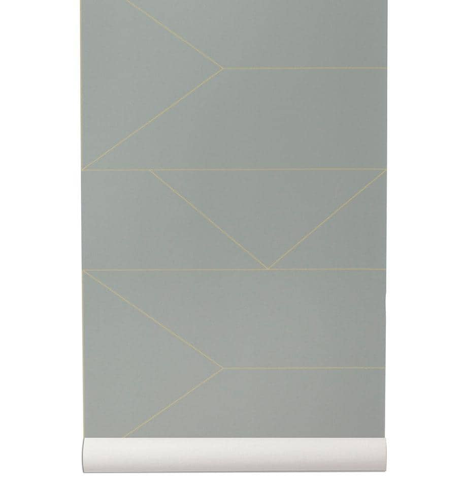 Ferm Living Lines Wallpaper - Grey