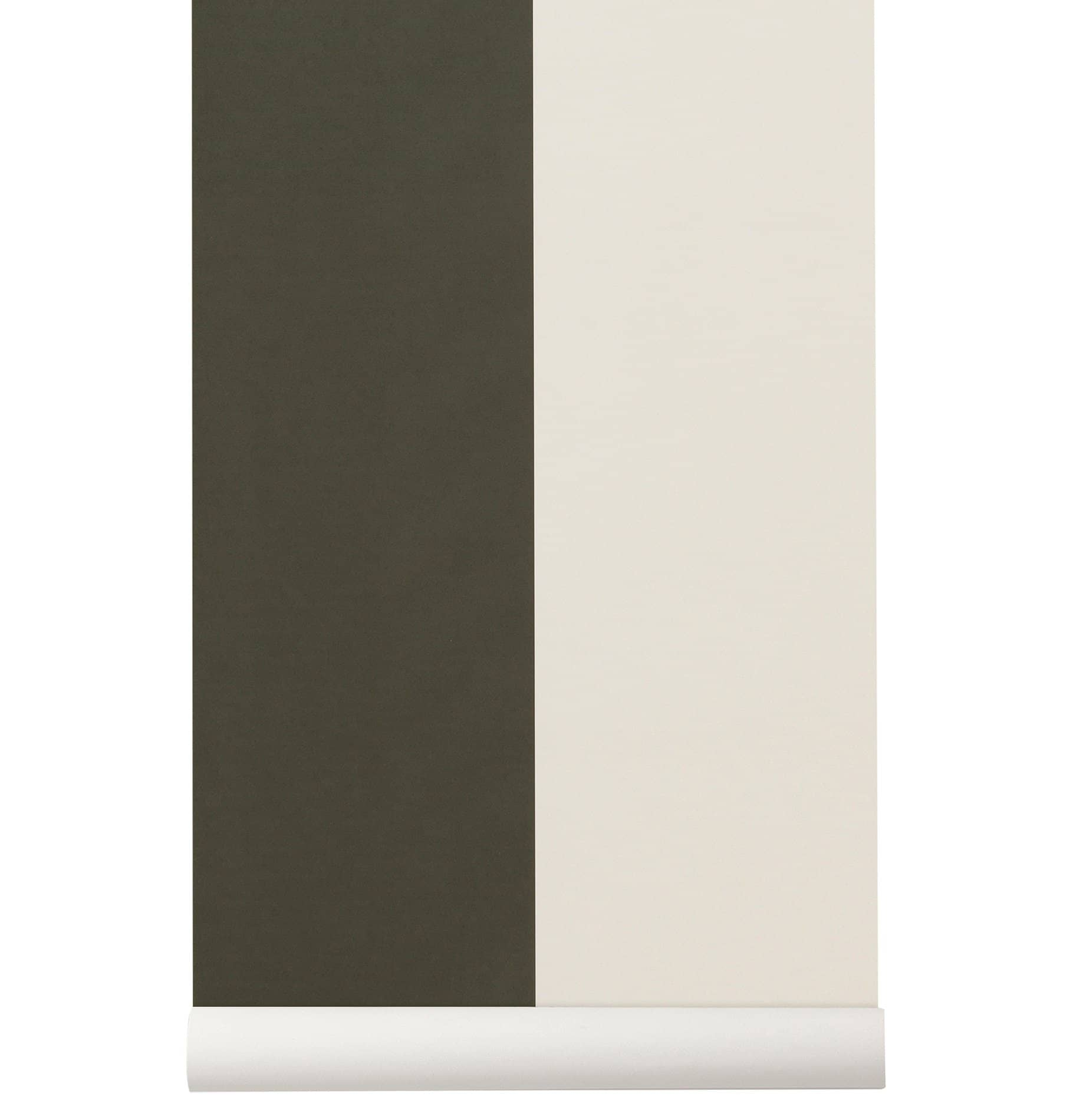 Ferm Living Thick Lines Wallpaper - Green/Off White