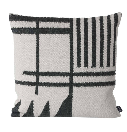 Ferm Living Kelim Cushion - Black Lines