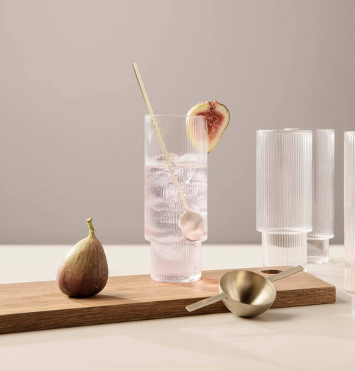Ferm Living Ripple Long Drink Glasses - Set of 4 - HUH. Store