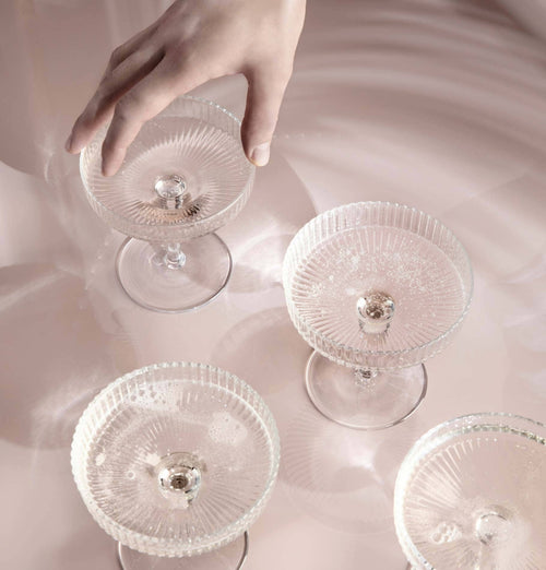 Ferm Living Ripple Champagne Glasses - Set of 2