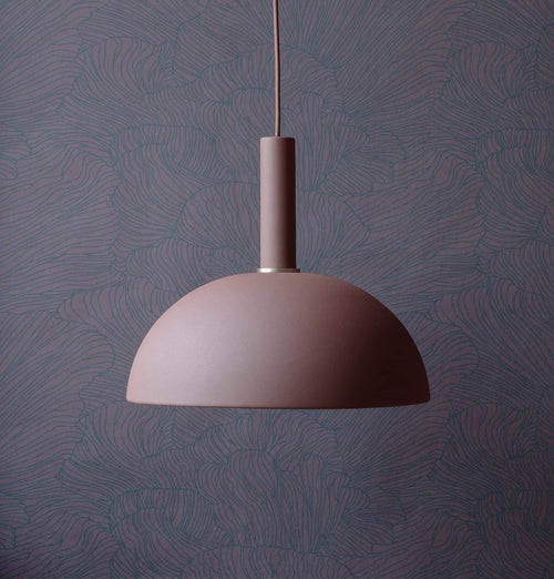 Ferm Living Coral Wallpaper - Bordeaux/Dark Blue