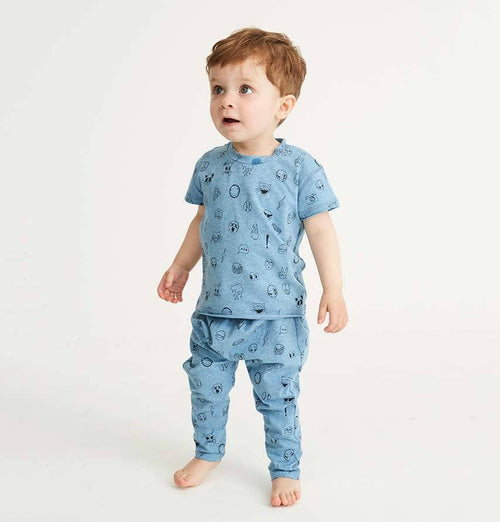 Soft Gallery Ashton T-Shirt – Baby Blue Melange