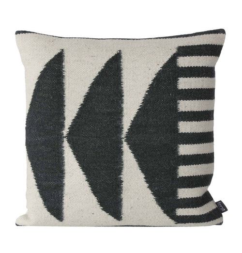 Ferm Living Kelim Cushion - Black Triangles