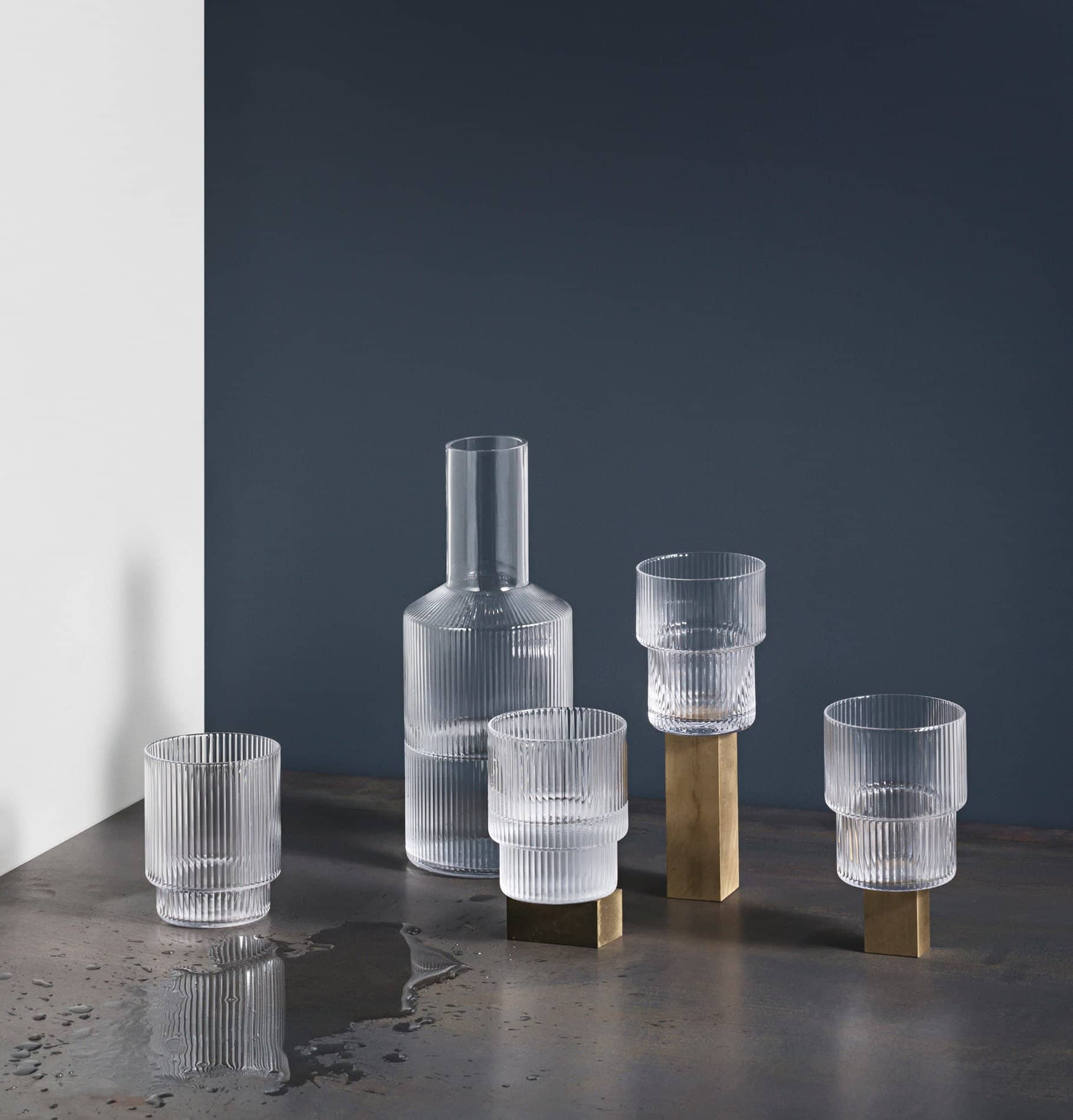 Ferm Living Set of 4 Ripple Glasses