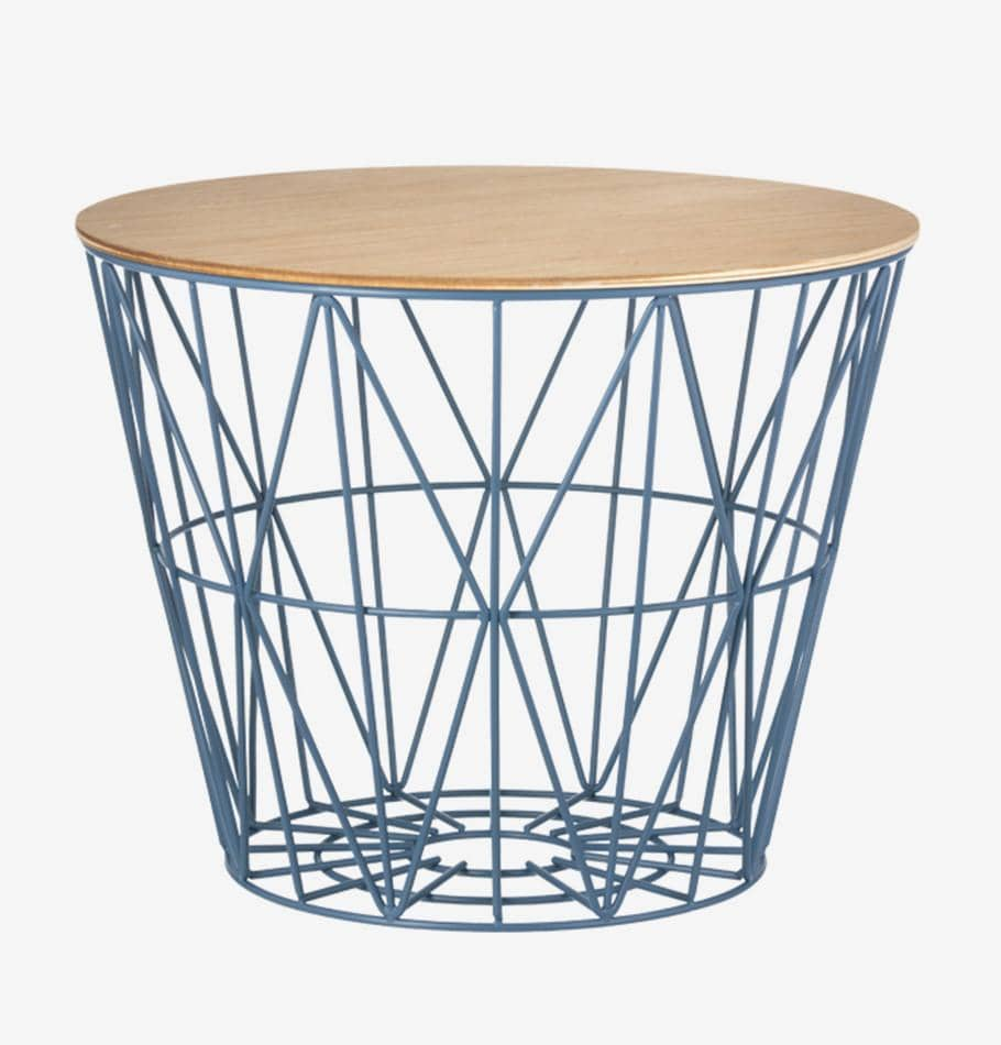 Ferm Living Wire Basket Top - Small - Oiled Oak Veneer