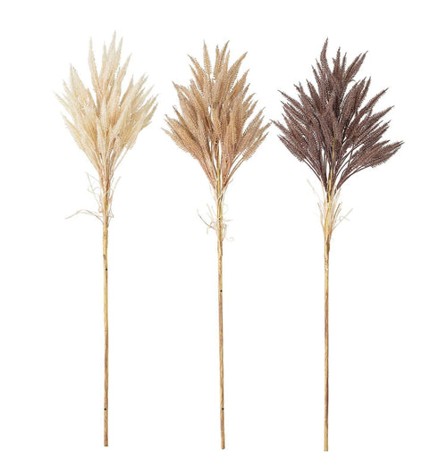 Bloomingville Faux Flowers – Artificial Grass/Wheat – Set of 3