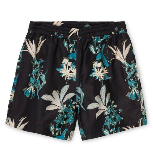 Carhartt WIP Drift Swim Trunks – Hawaiian Floral Print – Black