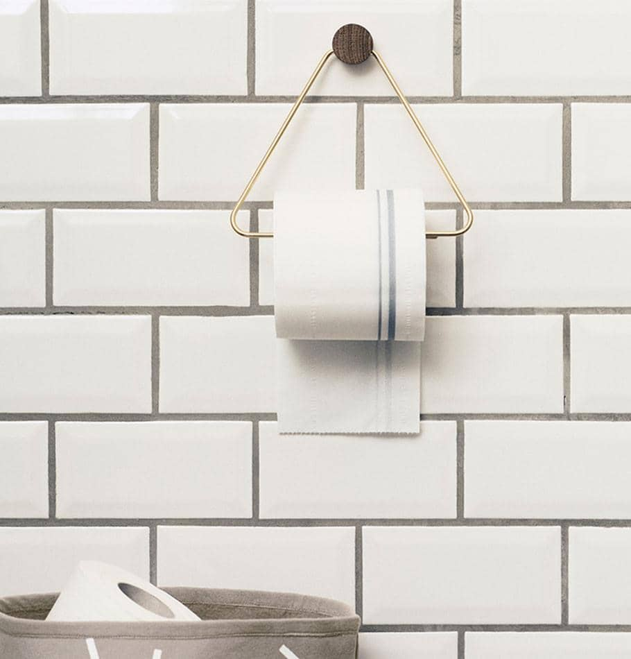 Ferm Living Brass Toilet Paper Holder - HUH. Store