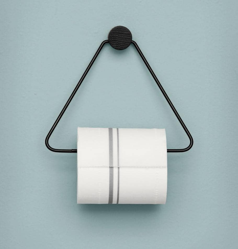 Ferm Living Black Toilet Paper Holder - HUH. Store