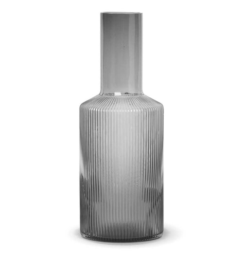 Ferm Living Ripple Carafe – Smoked Grey