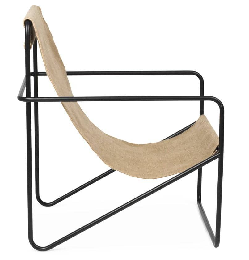 Ferm Living Desert Lounge Chair – Black/Solid Cashmere