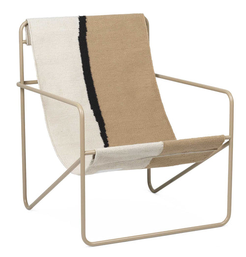 Ferm Living Desert Lounge Chair – Cashmere/Soil