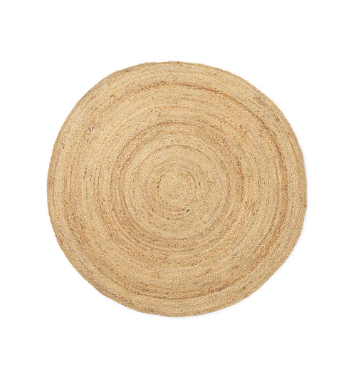 Ferm Living Eternal Round Jute Rug – Natural – Small