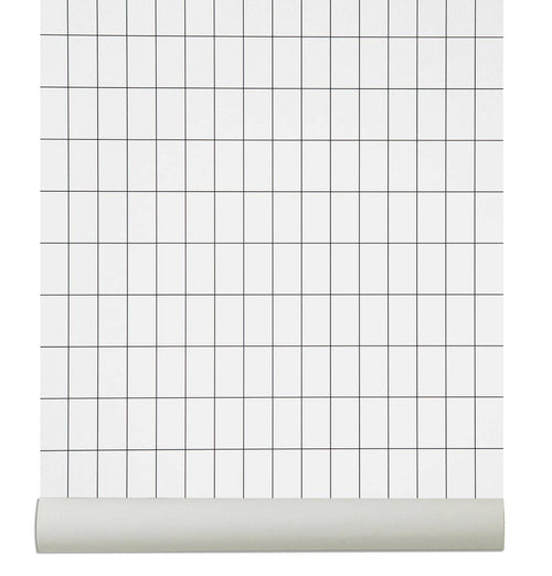 Ferm Living Grid Wallpaper – Black/White