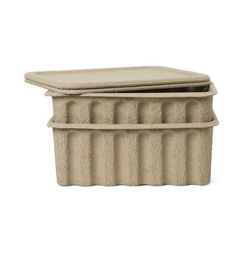 Ferm Living Large Paper Pulp Box – Set of 2