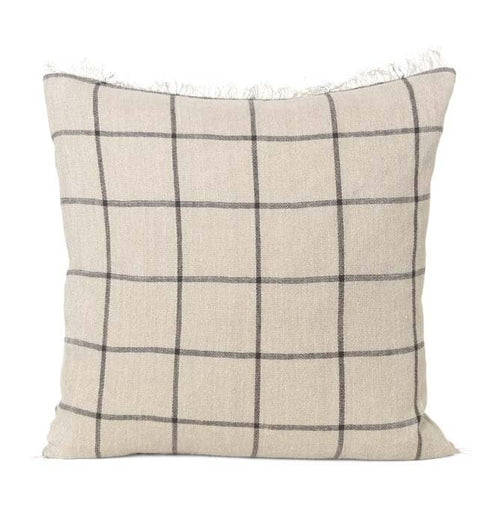 Ferm Living Calm Cushion – Camel/Black – 50 x 50 cm