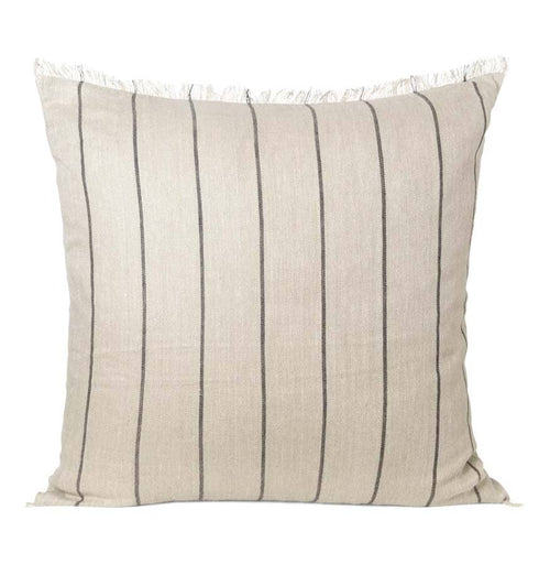Ferm Living Calm Cushion – Camel/Black – 80 x 80 cm