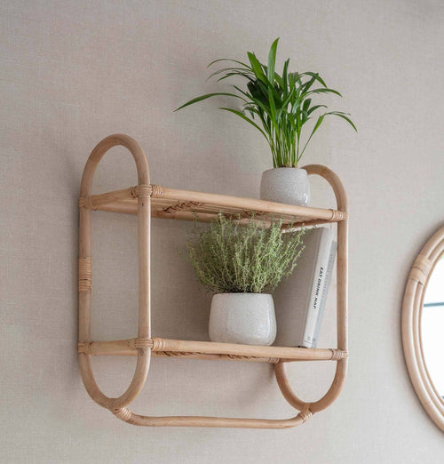 Garden Trading Bamboo Mayfield Double Wall Shelf