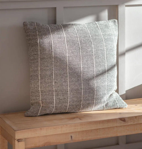 Garden Trading Grey Walberswick Stripe Cushion – Large
