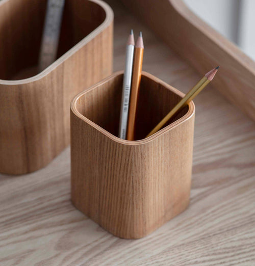 Garden Trading Wooden Brushfield Pen Pot
