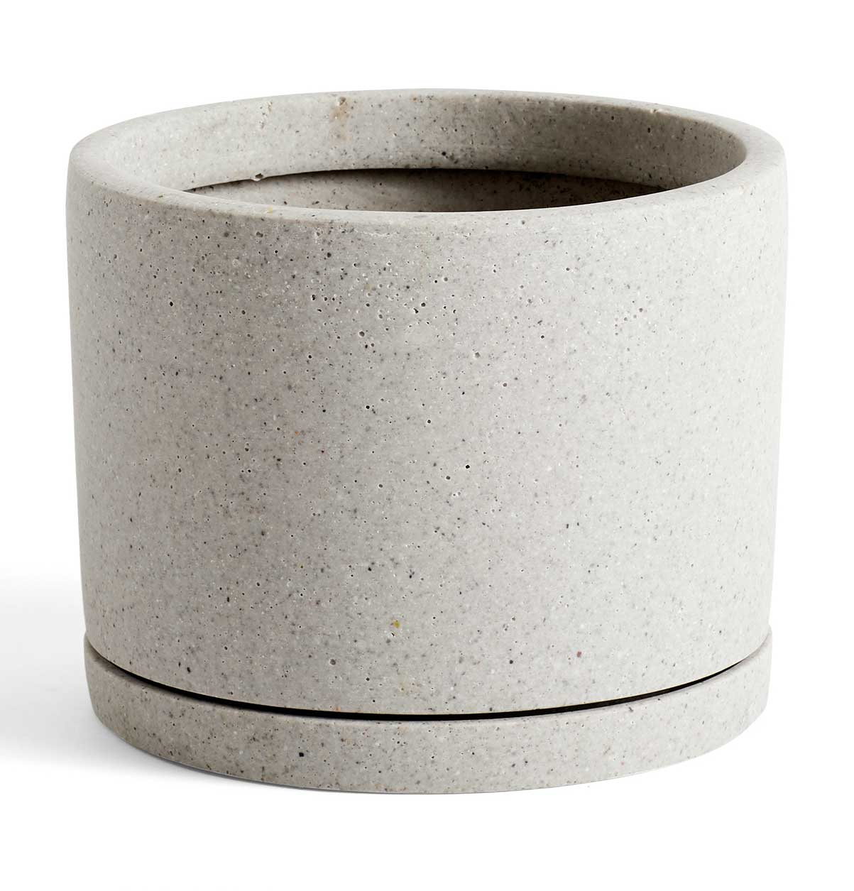 HAY Plant Pot with Saucer – L – Grey
