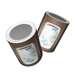Airplane Windows & Clouds Designed Bluetooth Speakers