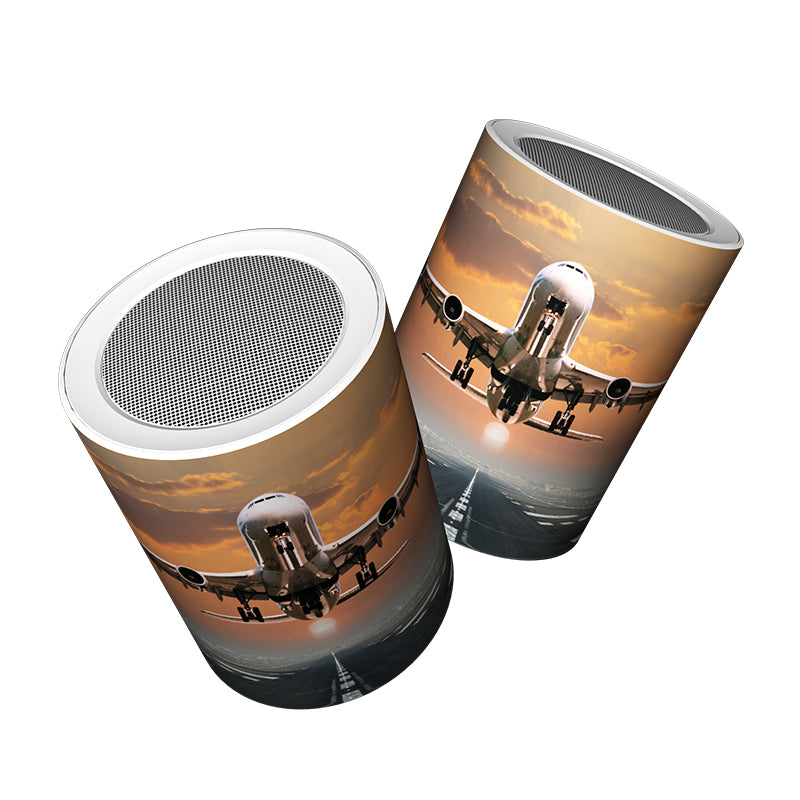 Aircraft Departing from RW30 Designed Bluetooth Speakers