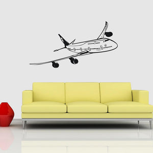 Cruising Beautiful Boeing 747 Designed Wall Sticker Pilot Eyes Store