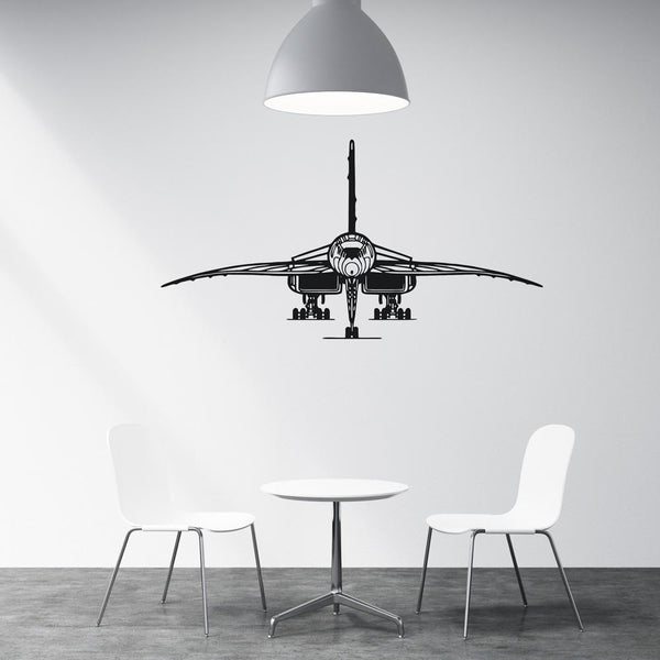 Face to Face with Concorde Designed Wall Sticker