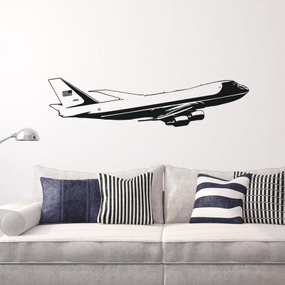 Cruising United States of America Boeing 747 Designed Wall Sticker