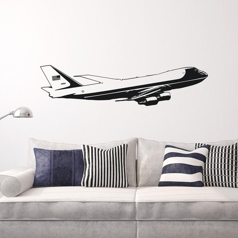 Cruising United States of America Boeing 747 Designed Wall Sticker Pilot Eyes Store