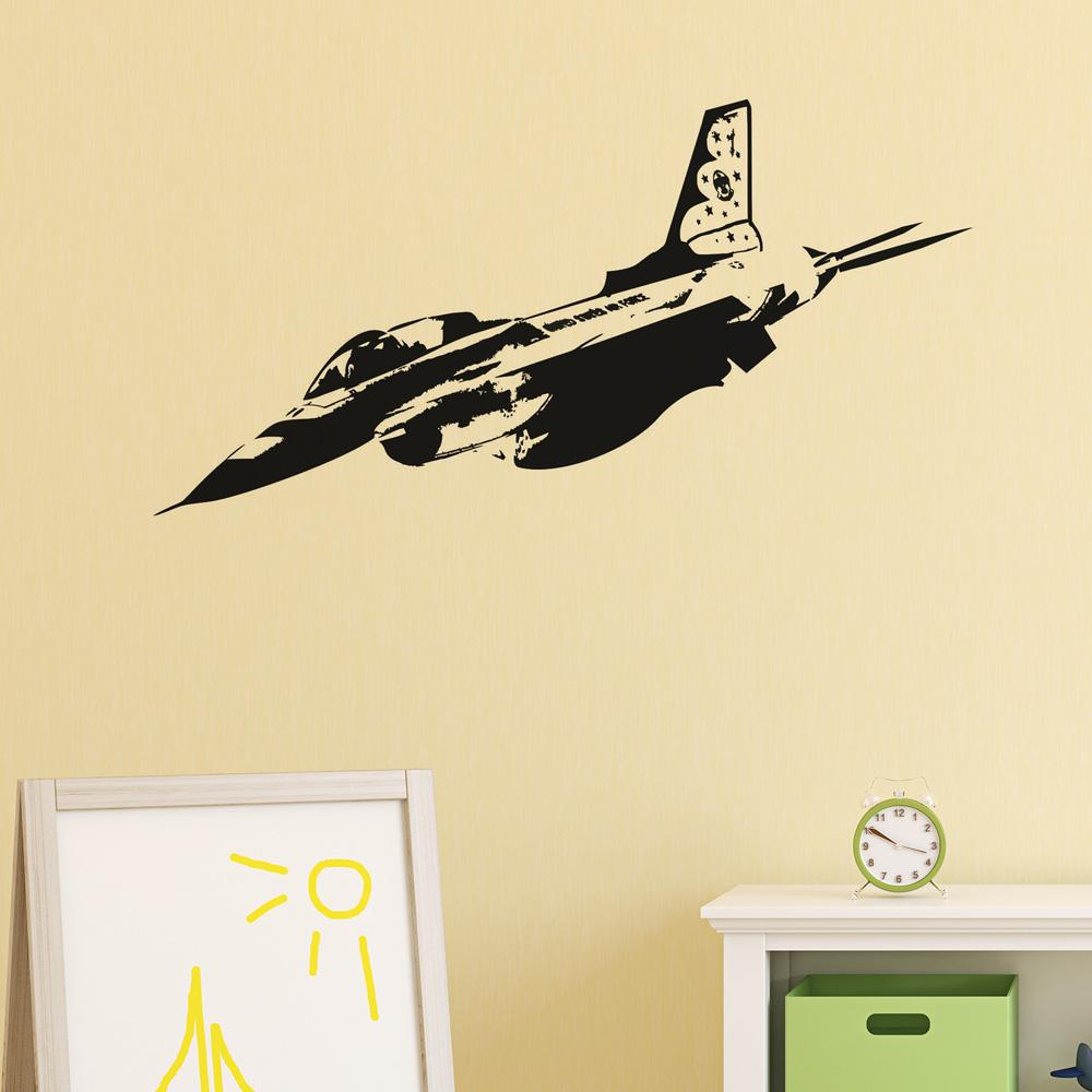 Amazing Fighting Falcon F16 Designed Wall Sticker