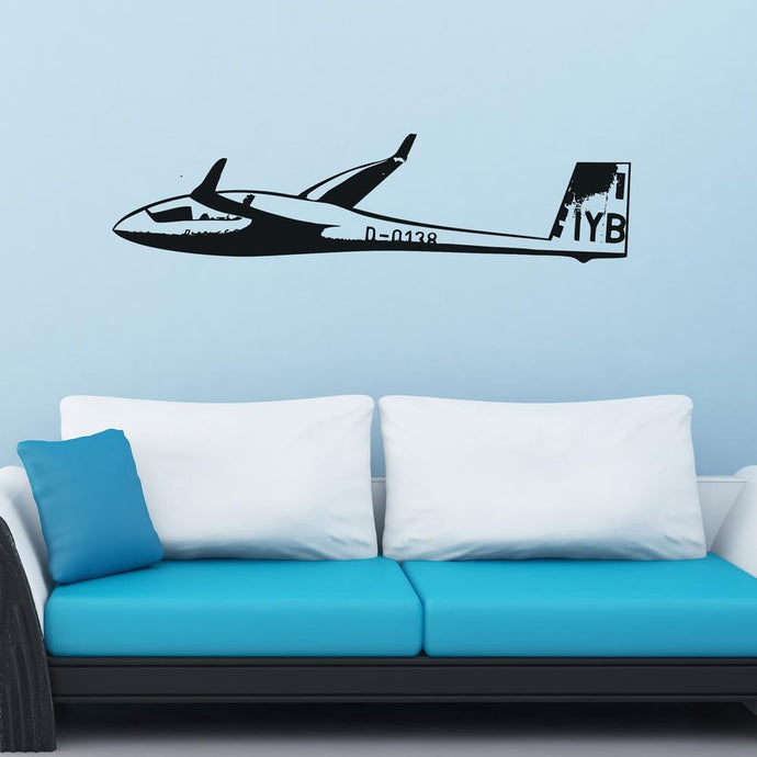 Cruising Glider Designed Wall Sticker Pilot Eyes Store