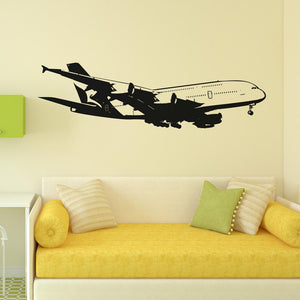 Airbus A380 on Approach from Side Designed Wall Sticker Aviation Shop