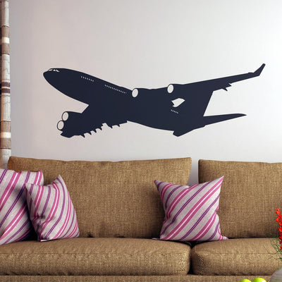 Departing Four Engine Jet Designed Wall Sticker