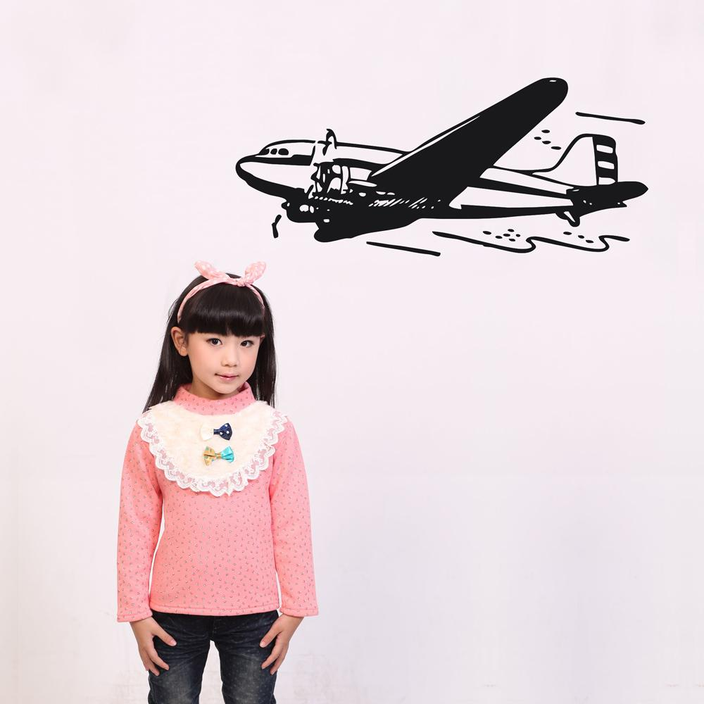 Amazing Old Airplane Designed Wall Sticker