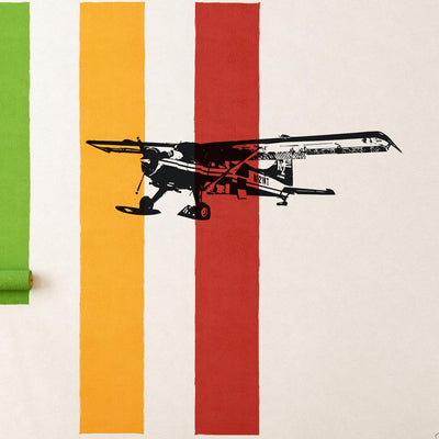 Amazing Snow Aircraft Designed Wall Sticker