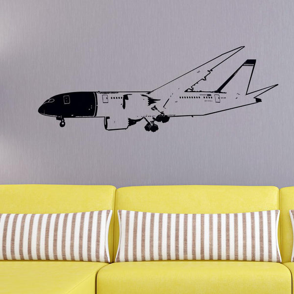 Boeing 787 on Approach Designed Wall Sticker
