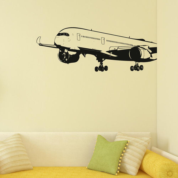 Departing Airbus A350 Designed Wall Sticker Pilot Eyes Store
