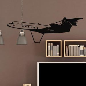 Gulfstream on Approach Designed Wall Sticker Aviation Shop