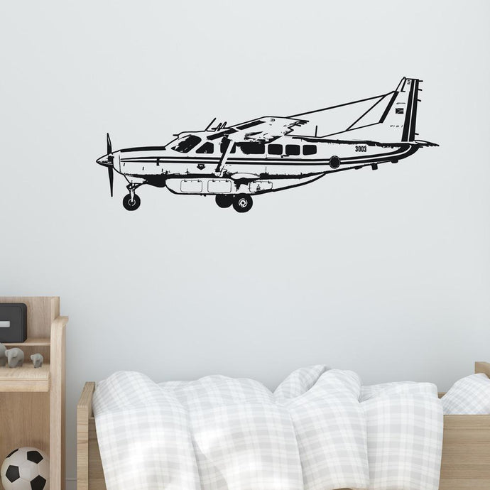 Cessna Caravan on Approach Designed Wall Sticker Aviation Shop