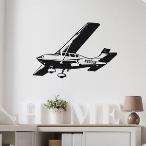 Cruising Amazing Cessna 172 Skyhawk Designed Wall Sticker Aviation Shop
