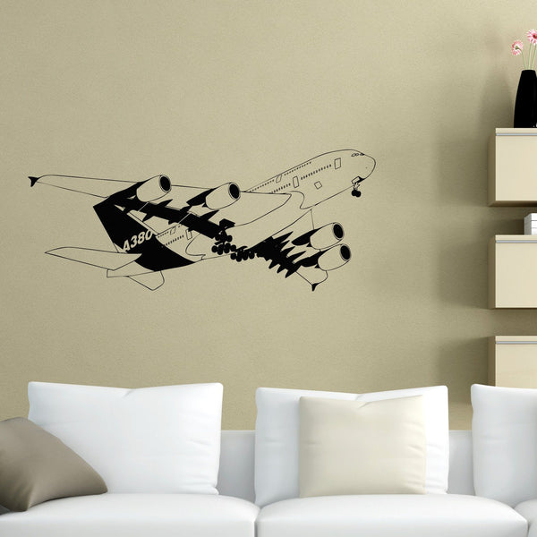 Departing Detailed Airbus A380 Designed Wall Sticker Aviation Shop